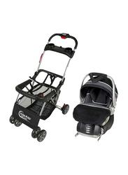 Baby Trend Snap N Go Car Seat Carrier + Infant Car Seat Set, Onyx, Black