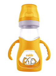 Farlin Angle Feeder Bottle and Nipple with Handle 250ml, Orange