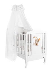 Cam Mosquito Net with Orso Rod for Baby, White