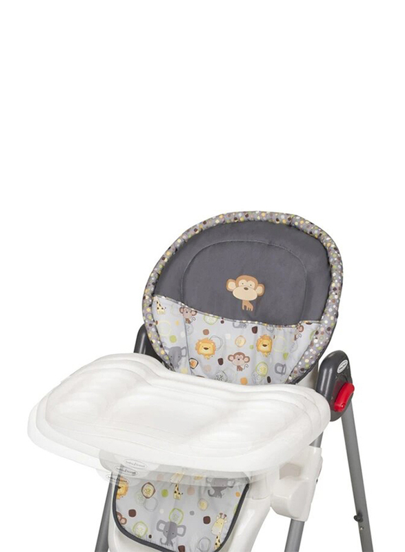 Baby Trend Sit Right 3-in-1 High Baby Chair, Bobble Heads, Grey/Blue