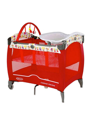 Graco Pack N Play Contour Electra Travel Cot, Red