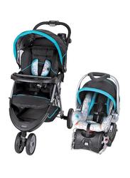 Baby Trend EZ Ride 5 Travel System Baby Stroller, Circle Stitch, Blue/Black