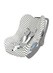 Ubeybi Car Seat Cover, Zigzag, Black/White