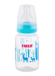 Farlin Pp Standard Neck Feeder Baby Bottle, 140ml, Blue/Clear