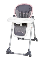 Baby Trend Dine Time 3-in-1 Baby Girls High Chair, Starlight Pink, Grey/Pink