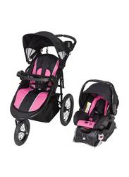 Baby Trend Cityscape Jogger Travel Sytem Baby Stroller, Rose, Pink/Black