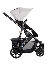 Baby Trend Reis Baby Stroller, Satin Black/Mystic Black/Sandstone