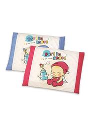 Farlin 2-Pieces Baby Non-Smother Pillows Set, Pink/Blue