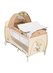 Cam Daily Plus Baby Travel Bed, Bear, Beige