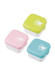 Farlin 3-Pieces Bentoo Lunch Box Set, 6+ Months, Pink/Green/Blue