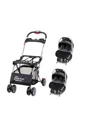 Baby Trend Snap N Go EX Universal Infant Car Seat Carrier + 2-Piece Flex-Loc Infant Car Seat Set, Onyx, Black