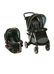 Graco Urbanlite Click Connect Travel System Baby Stroller, Cascade, Green