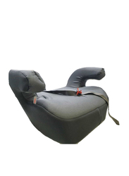 Cam Cushion Padded Booster Seat with Armrests and Belt Guide, Dark Grey