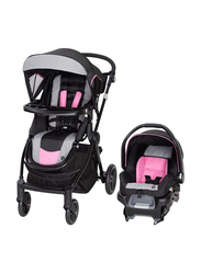 Baby Trend City Clicker Pro Travel System Baby Girls Stroller, Soho Pink, Black