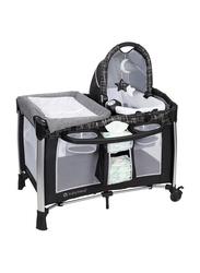 Baby Trend Golite Elx Nursery Center Play Yard with Bassinet, Phoenix, Grey/Black