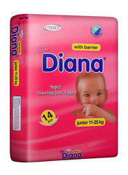 Diana Baby Diaper, Size 5, Junior 11-25 kg, 14 Count