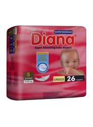 Diana Baby Diaper, Size 5, Junior 11-25 kg, 26 Count