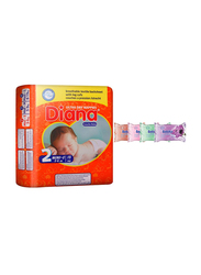 Diana Baby Diaper Bundle with Bebiko 4-Pack Pocket Wet Baby Wipes, Size 2, Mini-S, 3-6 kg, 15 Count