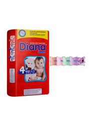 Diana Baby Diaper Bundle with Bebiko 4-Pack Pocket Wet Baby Wipes, Size 4, Maxi-L, 8-19 kg, 12 Count