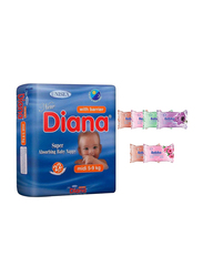 Diana Baby Diaper Bundle with Bebiko 6-Pack Pocket Wet Baby Wipes, Size 3, Midi, 5-9 kg, 22 Count