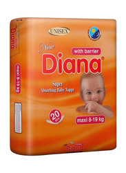 Diana Baby Diaper, Size 4, Maxi, 8-19 kg, 20 Count
