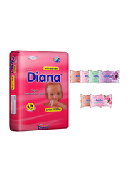 Diana Baby Diaper Bundle with Bebiko 6-Pack Pocket Wet Baby Wipes, Size 5, Junior 11-25 kg, 14 Count