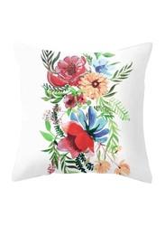 Deals for Less Colorful Flowers Design Decorative Cushion Cover, Multicolour