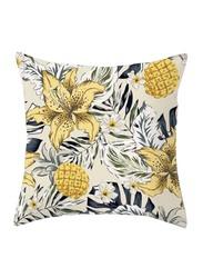 Deals for Less Flower Design Decorative Cushion Cover, Yellow/Black/Beige