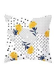 Deals for Less Flower & Polka Dots Design Decorative Cushion Cover, Multicolour