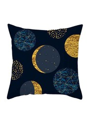 Deals for Less Moon Design Decorative Cushion Cover, Blue/Gold