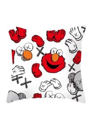 Deals for Less Elmo Design Decorative Cushion Cover, Red/White