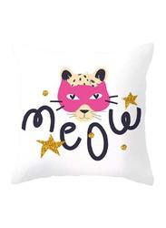 Deals for Less Cute Cat Design Decorative Cushion Cover, Multicolour