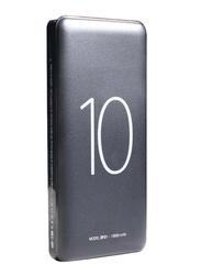 Heatz 10000mAh Portable Power Bank with Micro-USB Input, Grey
