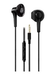 Heatz ZE18 Mono Bass 3.5mm Jack In-Ear Earphone, with Mic, Black