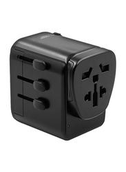 Bluedigit Universal Travel Adapter Charger, Black