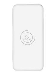 Bluedigit 8000mAh Wireless Fast Charging Power Bank with USB Type-C and Micro-USB Input, White