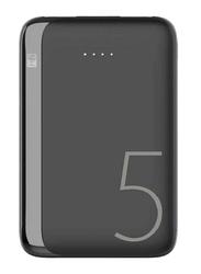 Heatz 5000mAh Pocket Ultra Quick Charging Power Bank with Micro-USB/Type-C Input, Black