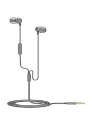Bluedigit E070 iDynamic Earplug 3.5mm Jack In-Ear Noise Cancelling Earphone with Mic, Gold/Grey