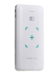 Heatz 10000mAh Portable Power Bank with Micro-USB/Lightning/USB Type-C Input, White