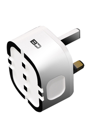 Bluedigit UK Plug Wall Charger, Apple MFi Certified, 2.4A with USB Type A to Lightning Cable, White