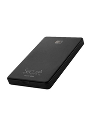 Heatz 4TB HDD Disk Enclosure Hard Disk, USB 2.0, Black