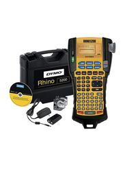 Dymo Rhino 5200 Hard Case Label Printers Kit, Yellow/Black