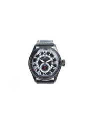 Spectrum Explorer Analog Watch for Men, with Leather Band and Chronograph, S23038M, Black
