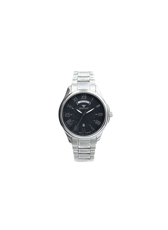 Spectrum Inventor Analog Watch for Men, with Stainless Steel Band, 12507M, Silver-Black