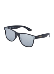 Daniel Klein Polarized Wayfarer Full-Rim Black Frame Sunglasses for Men, Grey Lens, DK3167C, 50/16/140