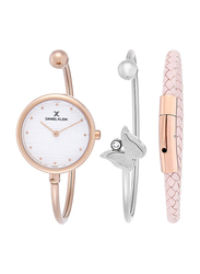Daniel Klein Analog Watch for Women, with Stainless Steel Band and Water Resistant, DK11933-2, Rose Gold-Silver
