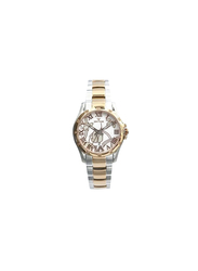 Spectrum Explorer Analog Watch for Women, with Stainless Steel Band, S12554L, Silver/Rose Gold-White