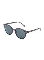Daniel Klein Polarized Clubmaster Full-Rim Grey Frame Sunglasses for Men, Green Lens, DK3144C, 50/15/140