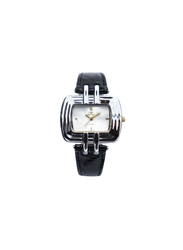 Spectrum Explorer Analog Watch for Women, with Leather Band, 93423L, Black-White