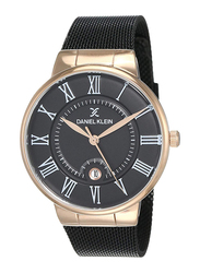 Daniel Klein Premium-Gents Analog Watch for Men, with Stainless Steel Band and Water Resistant, DK12112-5, Black